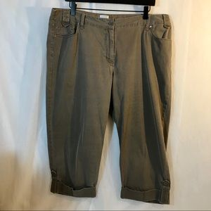 Chico's Lt. Army Green Crop Pants